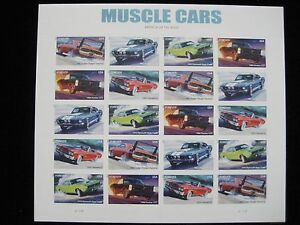 Image Is Loading U S Postage Stamps Muscle Cars Stamp Sheetlet