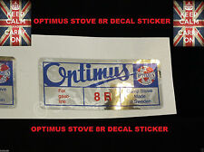 2 OPTIMUS PRIMUS BOX TIN STICKER DECAL LANTERN STOVE REPLACEMENT VERSION 1 TWO