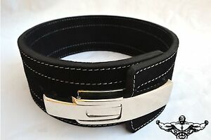 Quest Varsity Lever Belt Weightlifting Powerlifting Strongman - BLACK