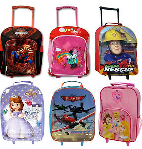 Kids Disney Character Wheeled Trolley Bag Suitcase Set Holiday ...