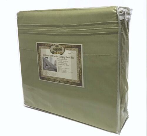 4 Pièce 1800 Comte poche profonde Bed Sheet Set Taille King-Queen-Full Double Couleur