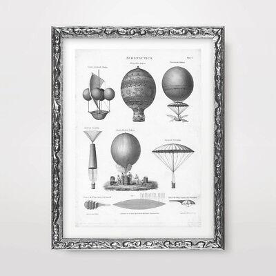 VINTAGE AIRSHIP DESIGNS PLANS STEAMPUNK ART PRINT POSTER Diagrams Decor Picture