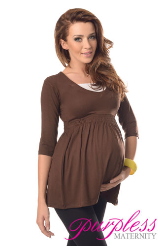 3//4 Sleeved Maternity Top Tunic Pregnancy Clothing Size 8 10 12 14 16 18 5200
