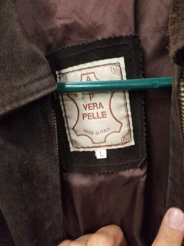Vera Made Large Italy Pelle In Brown Kvinders Læder Jakke P Størrelse 5pwSqS