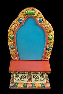 Tempio Tibetano Altare Scatola Per Soprammobile Budda Tibet 32X21CM 5415 - Eta