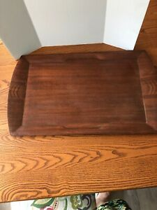 Vintage-Antique-Toastmaster-Hospitality-Wooden-Serving-Tray-Art-Deco