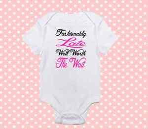 Pink Well Worth The Wait Onesie Cute Baby Girl Clothes Newborn