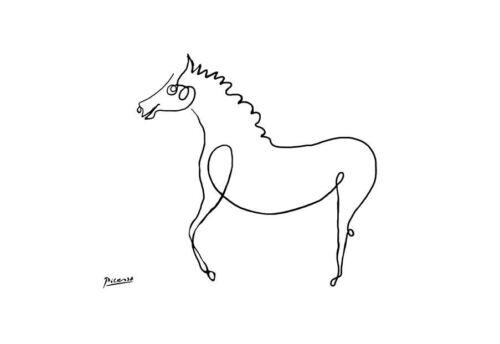 Bild Malerei Replik Monet Dali Van Gogh Kunst Picasso Gerahmter Druck Pferd