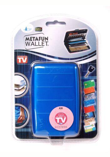 5 emplacements MetaFun RFID Aluminium Portefeuille//carte de crédit titulaire