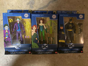 DC Multiverse Originals 80th Batman Joker Poison Ivy Set Of 3 Figures New Mattel