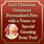Personalized 2020 Quarantine PPE Doctor Christmas Tree Ornament