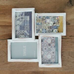 Bilderrahmen-Fotorahmen-weiss-Collage-4-Fotos-10-x-15-cm