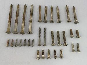 Reliquia-de-anos-Individual-Ranura-Niquel-Set-de-tornillos-PRINCIPIOS-50-Estilo