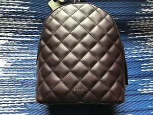 Fiorelli-Anouk-Aubergine-Quilted-backpack-Rucksack-New-RRP-70