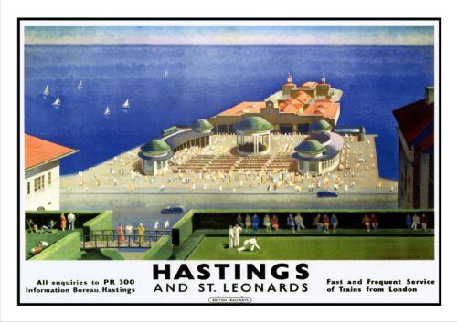Hastings Railway Vintage Retro Oldschool Old Good Price Poster