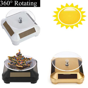 360-Rotating-Turntable-Jewelry-Display-Stand-Solar-or-AAA-Battery-Powered