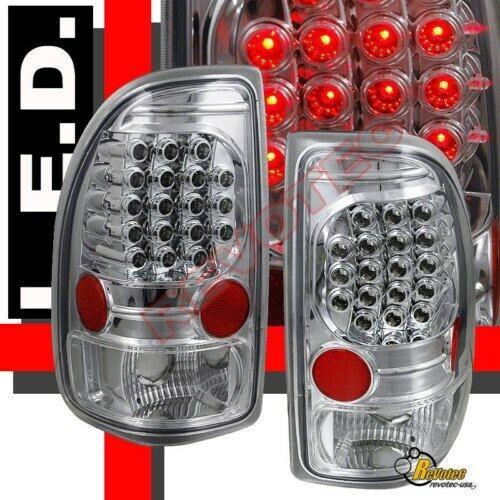 97-04 Dodge Dakota R//T SLT SXT Base Chrome LED Tail Lights 1 Pair