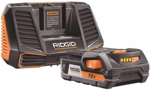 RIDGID AC848695 18V Hyper Lithium-Ion Starter Kit w// 2.0 Ah Battery /& Charger