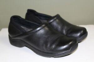 afd8779e18ce Image is loading Dansko-Black-Leather-Clogs-Womens-Size-40-EU-