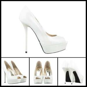 ESCARPINS-ESCARPINS-PLATFORM-PEEP-TOE-ITALY-HIGH-HEELS-LEATHER-PATENT-BLANC-41