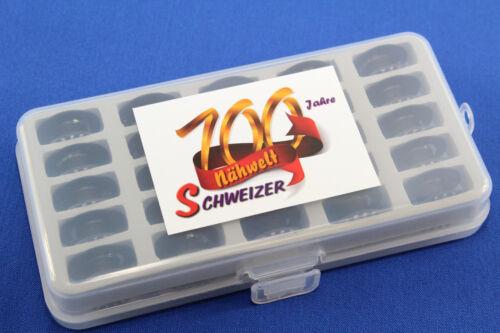 BERNINA 710-790 etc 25 Stück in schöner Box ! Jumbo Spulen f Original BERNINA