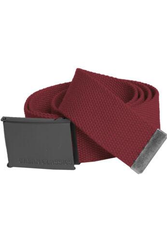 "URBAN CLASSICS CANVAS BELT Basic Fabric 125cm Price performance winner 2016/"""