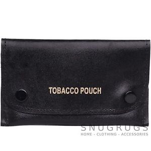 Mens-100-Genuine-Leather-Slim-Tobacco-Pouch-Holder-Fully-Lined