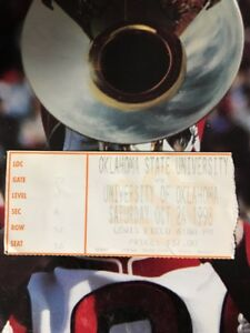 1998 Oklahoma Sooners State Cowboys Football Ticket Stub ...