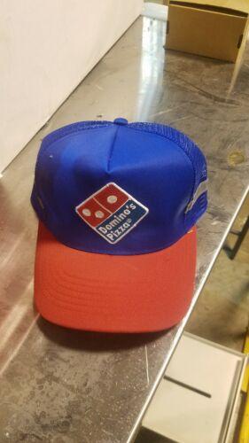 Vintage Dominos Pizza Stripe side men/'s snapback trucker mesh hat cap AD