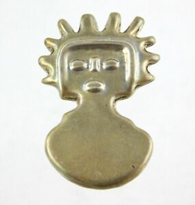 Taxco-Sterling-Silver-Modernist-Abstract-Person-Pendant-Enhancer-TD82-925-Mexico