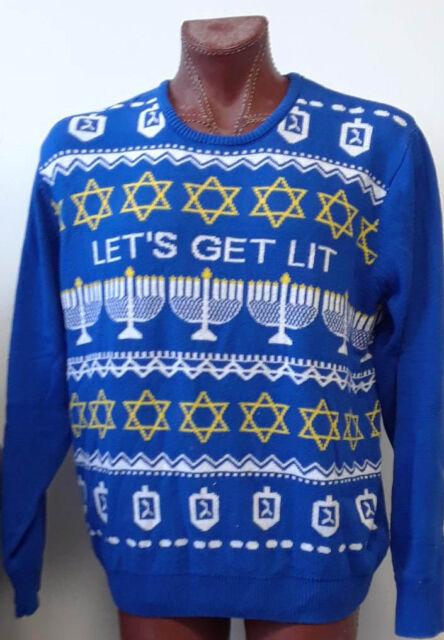 Route 66 Mens Hanukkah Sweater 4xl Lets Get Lit Ugly Christmas