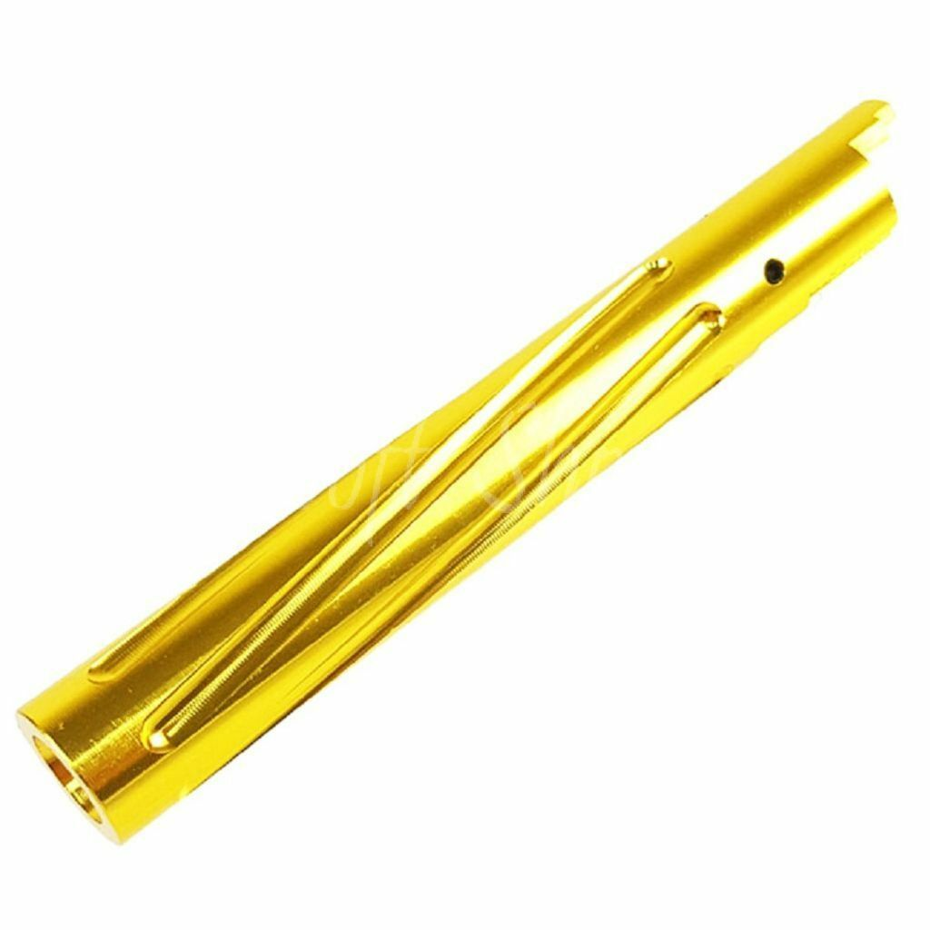 Airsoft 5KU Non-Recoil Spiral Outer Barrel For Hi-Capa 5.1 GBB gold