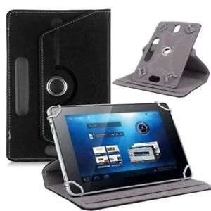 Universal-Tablet-Case-Black-Leather-Folio-Stand-Cover-Google-Samsung-Asus-7-034-In