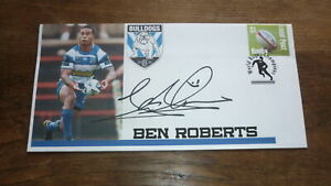 CANTERBURY-BULLDOGS-CHAMPION-BEN-ROBERTS-HAND-SIGNED-RUGBY-SOUVENIR-COVER