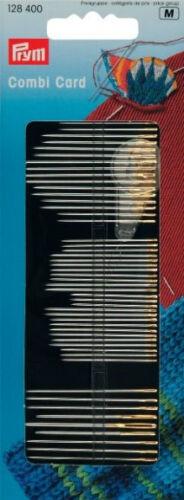 zurcir Needles /& Roscador Sentencia Prym Agujas Combi Tarjeta 128 400 bordado costura