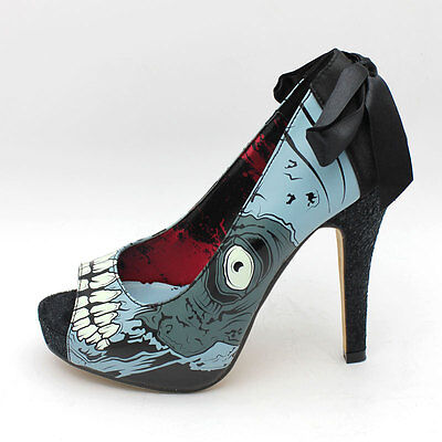 FDW Womens New Iron Fist Zombie Glow in the Dark High Heel Platform Shoes Limit