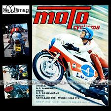 MOTOCYCLISME N°48 KAWASAKI 500 H1 MUNCH MAMMUT PEUGEOT GT10 SAARINEN PASOLINI 73
