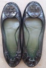 Tory Burch Reva Womens 6.5 hunter green Patent Leather Ballet Flats Shoes