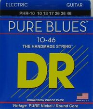 DR PHR-10 Pure Blues Light Lite Nickel Round Core Electric Guitar Strings 10-46