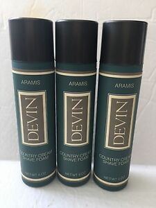 Armies-Devin-Men-039-s-Country-Cream-Shave-Foam-3-X-6-0oz-Hard-To-Find-3-Count-NEW