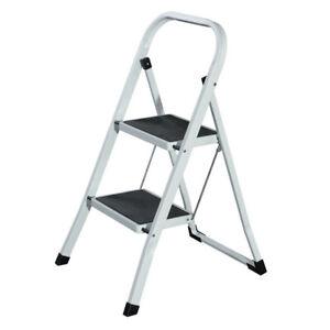 Portable 2 Step Foldable Ladder 25-50cm Step - 4.3kg Lightweight/Stool/Folding