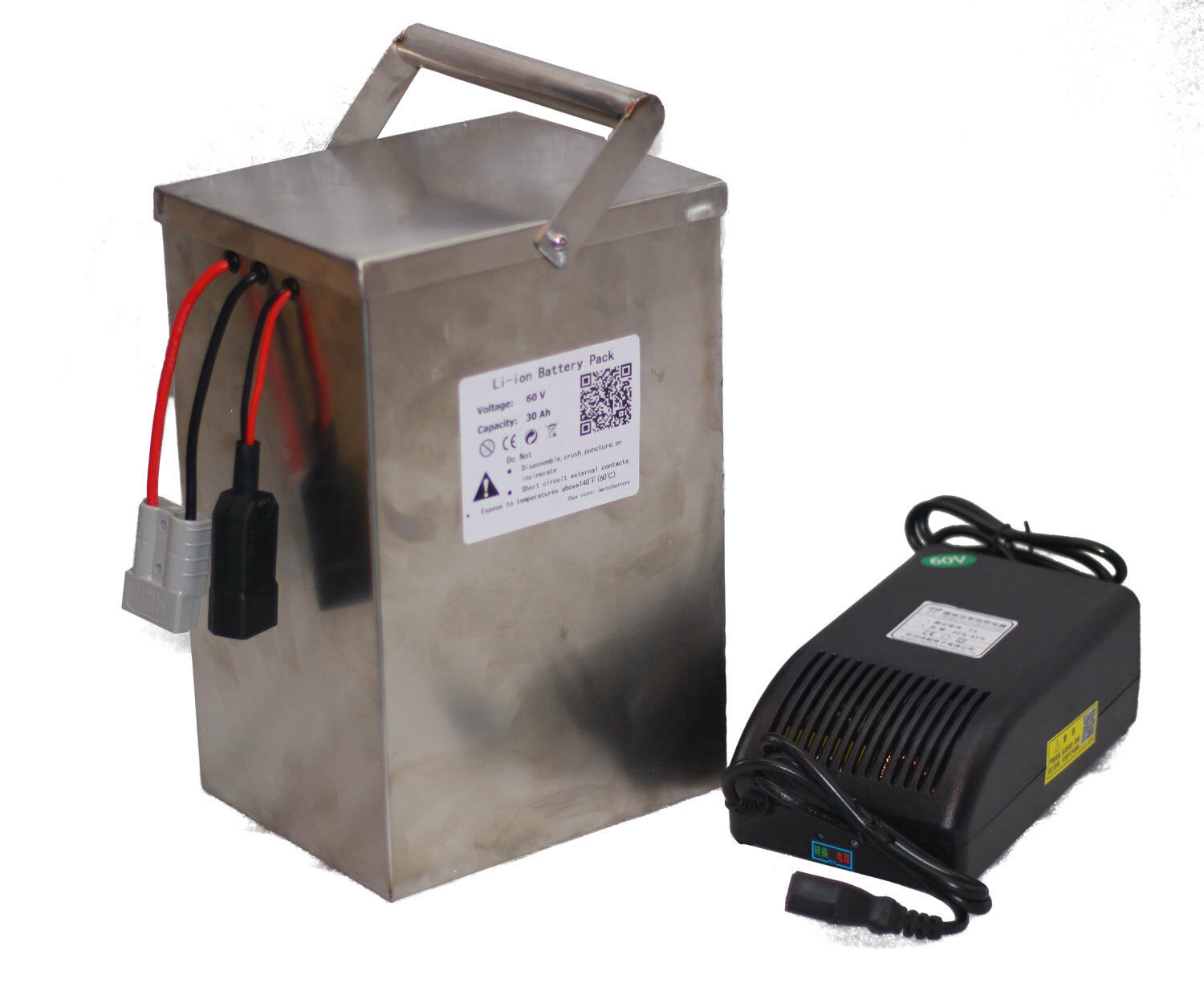 60Volt 30Ah  Lithium Li-ion Battery with Charger BMS for 1800W Electric Bicycle  brand outlet