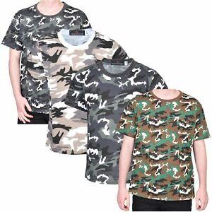 313688159b61f Kids T-shirt Camouflage Army Woodland Camo Military School PE Boys ...