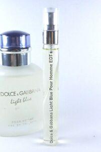 Dolce-amp-Gabbana-Light-Blue-Pour-Homme-Eau-de-Toilette-10ml-Spray-EDT-SAMPLE