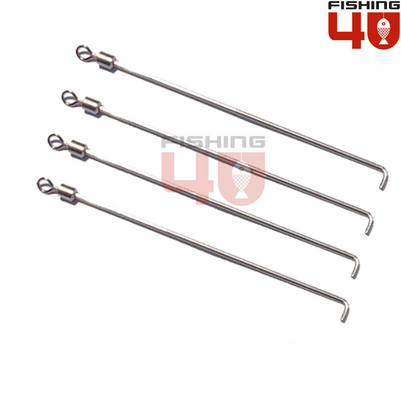 """4/"""" SEA FISHING TACKLE LOOP END LONG TAILS WEIGHT LEAD WIRES 100mm"""