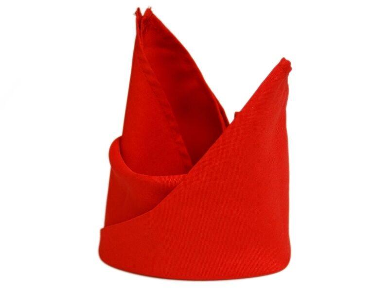 100 X Rouge Serviettes 20 X20  Mariage Fête Royaume-Uni Polyester