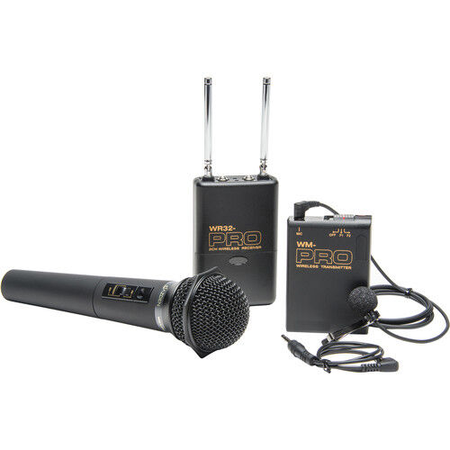 Pro a7 IV WLHM DC wireless lavalier + handheld mic for Sony a9 a7R IV III II a7S