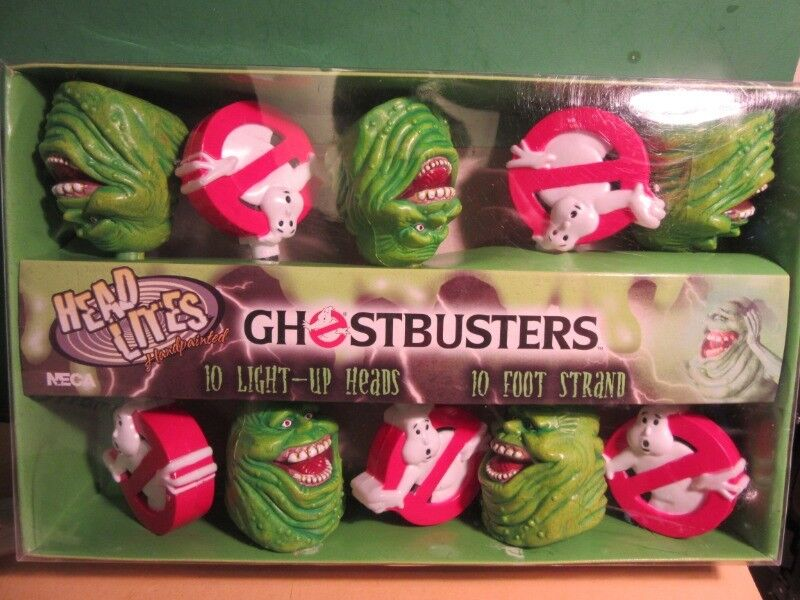 GHOSTBUSTERS 10' Holiday LITES with Slimer and LOGO MIB - Neca 2004