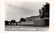B55/ Walhalla North Dakota ND RPPC Postcard c1940s Public School Building