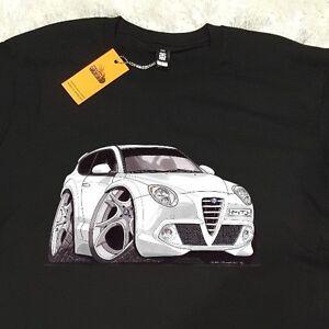 t-shirt as colour, custom print, alfa romeo mito euro sports cars